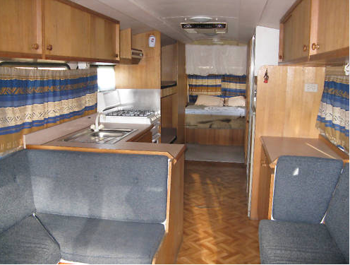 Interior Of Our Motorhome When We Bought It