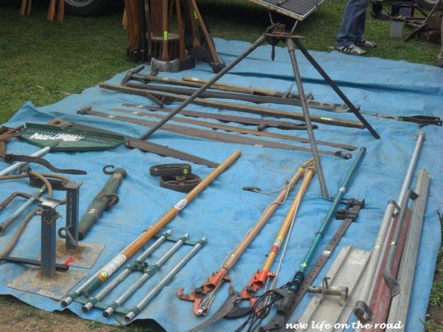 Tool Stall at Yandina Markets