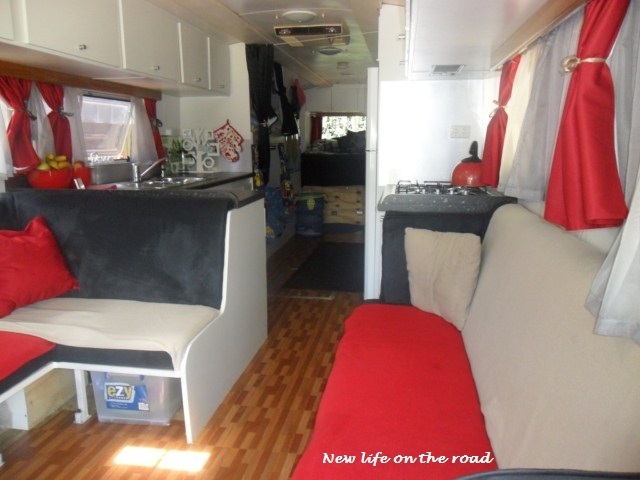 The inside of our Motorhome