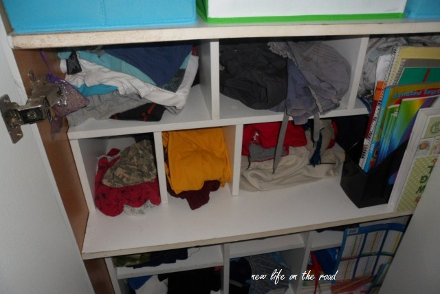 Cubby Holes for clothes