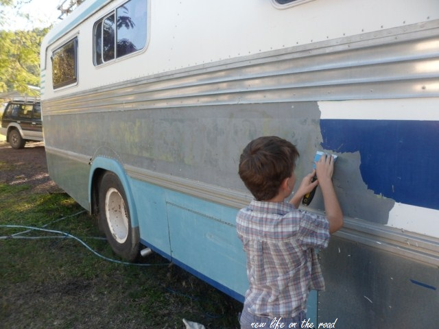 Renovating the outside of our motorhome