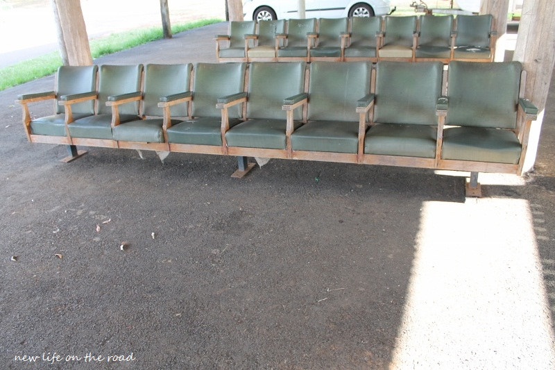 Old Cinema Seats provides shade