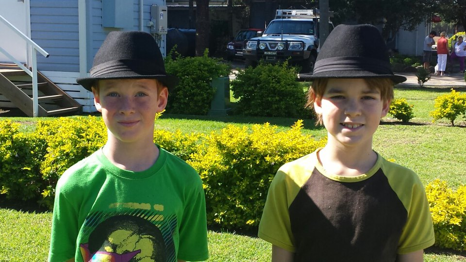 Boys in hats