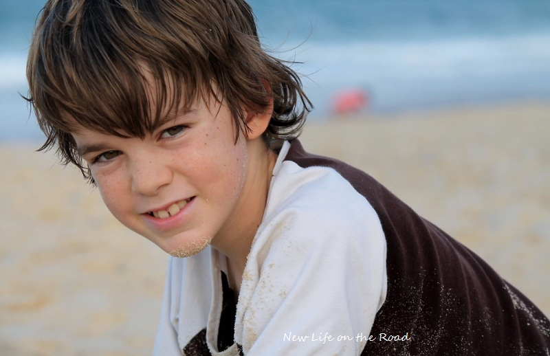 Cameron at the Beach