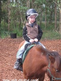 kyle riding the ponies