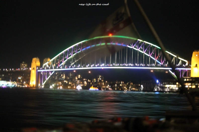 lights on the Sydney Harbour Bridge