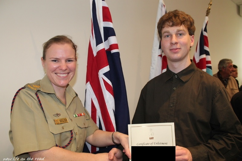 Zachery at the Wollongong Defence Force
