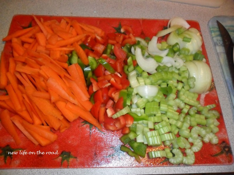 Diced up Veggies