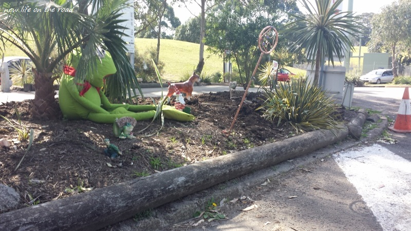 Kermit The Frog in the Garden Bed