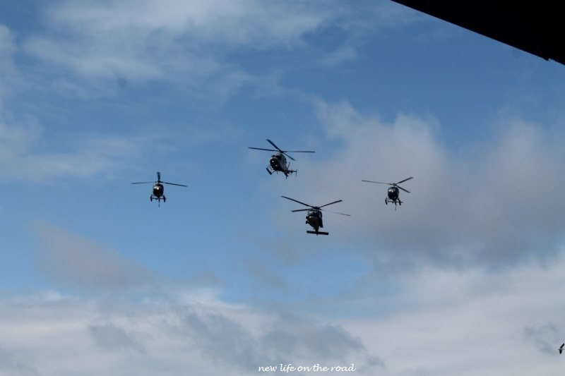 helicopter fly overs