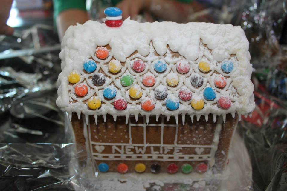 new life gingerbread house