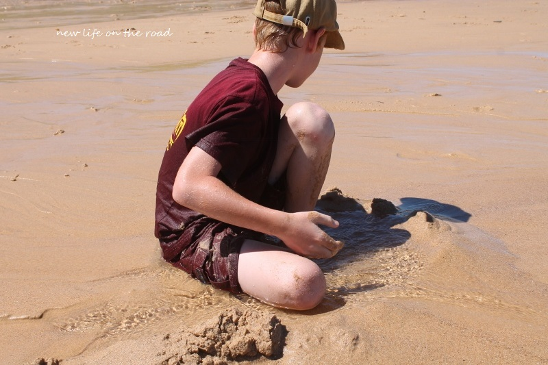 Building a fort in the sand