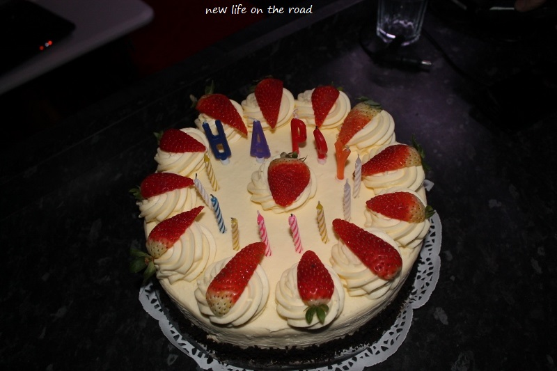 Cheesecake Birthday Cake