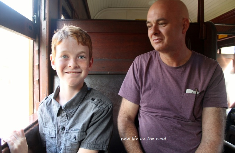 David and Kyle on the Steam Train