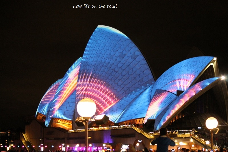Colours on the Opera House