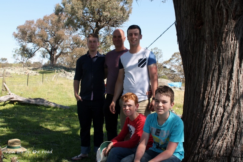 David with four of his boys