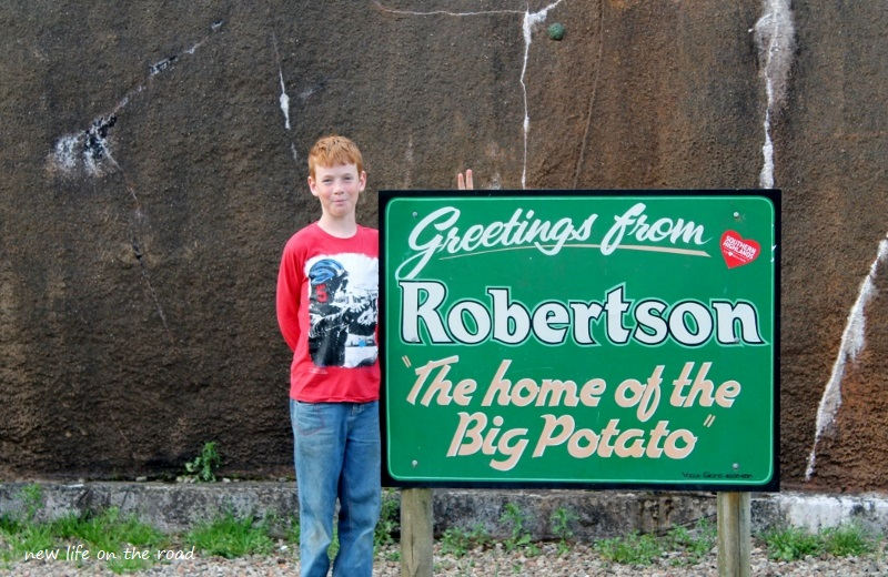 Robertson The home of the big Potato