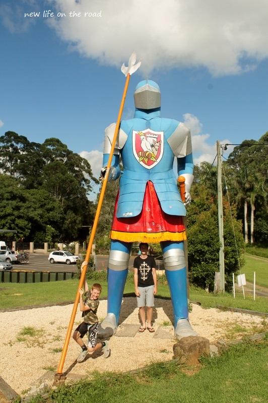 Big Statue outside the castle