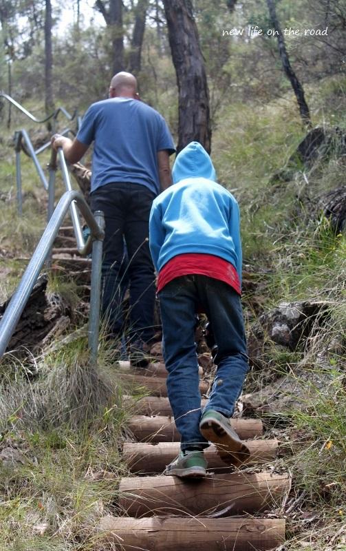 Climbing back up Federal Falls