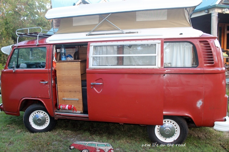 Cameron and Kyle slept in this kombi