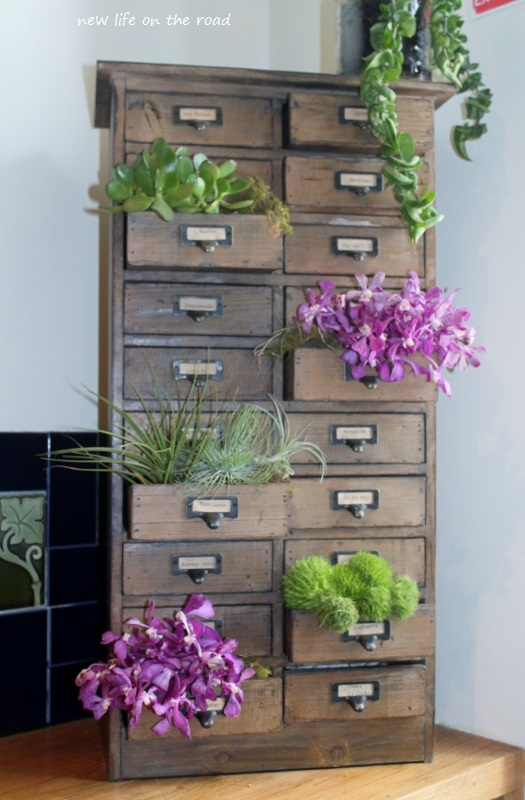 Cupboard with Flowers