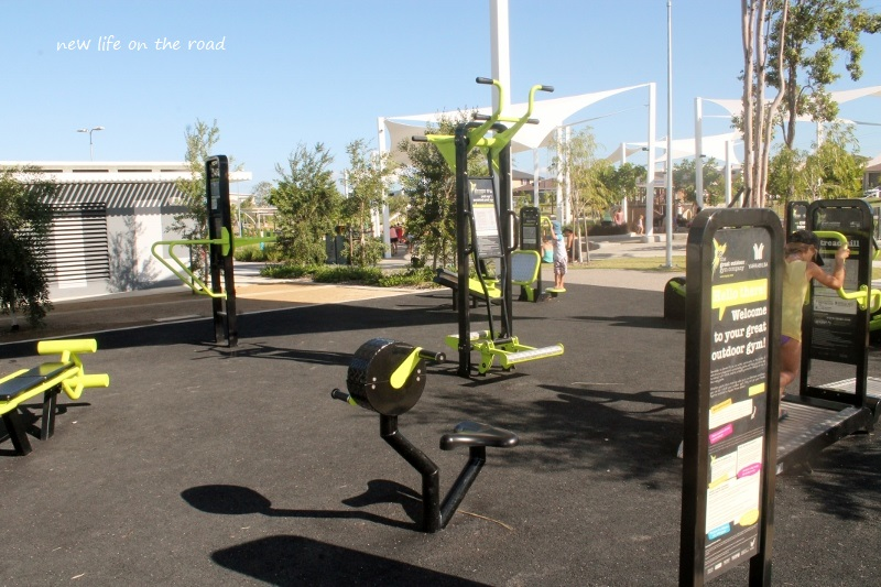 Gym area at the playground