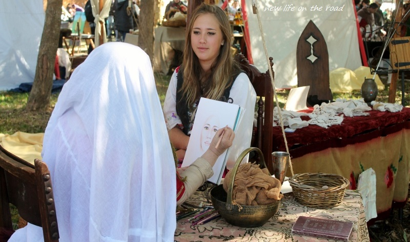Artist at the Abbey Medieval Festival 2015