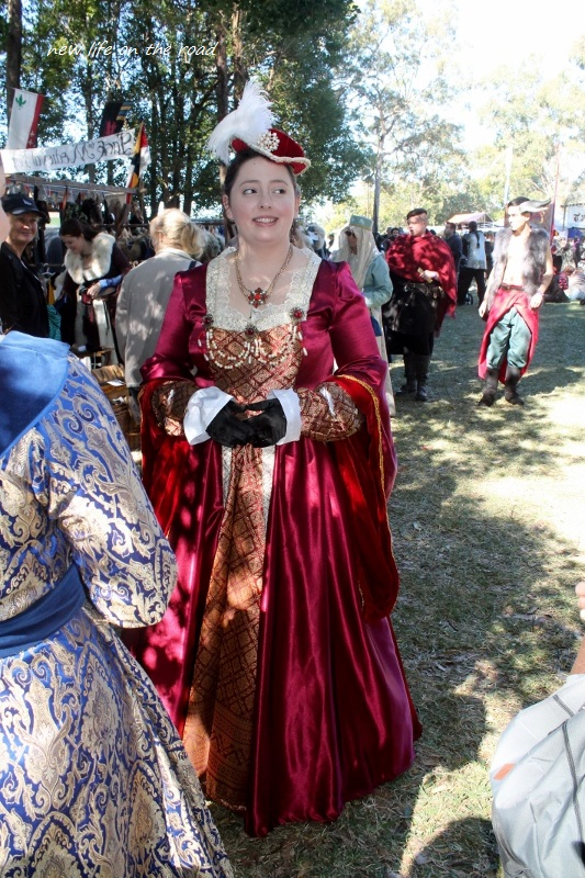 A Lady Dressed Up For the Medieval Festival
