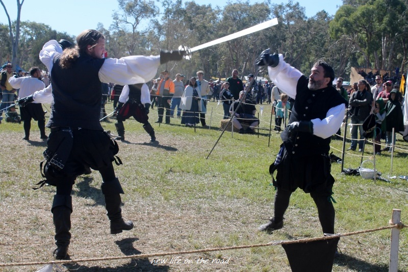 Sword Fighting at the Festival