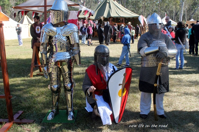 Medieval Knights Standing at Guard