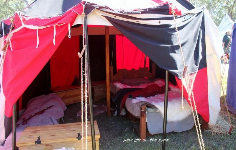 Medieval Tents indside
