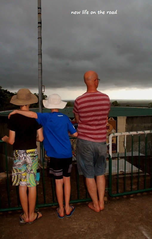 My family watching the storm coming in