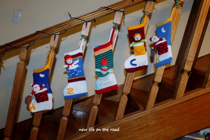 Christmas Stockings hung with care for Xmas Day