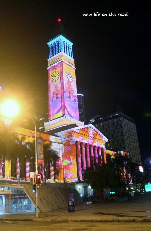 Christmas Show Lights at City Hall