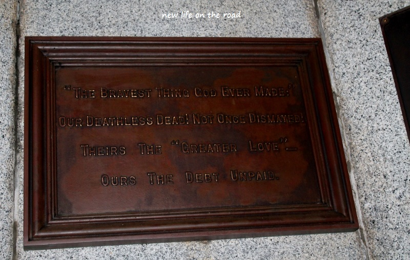 Memorial Information at Maryborough