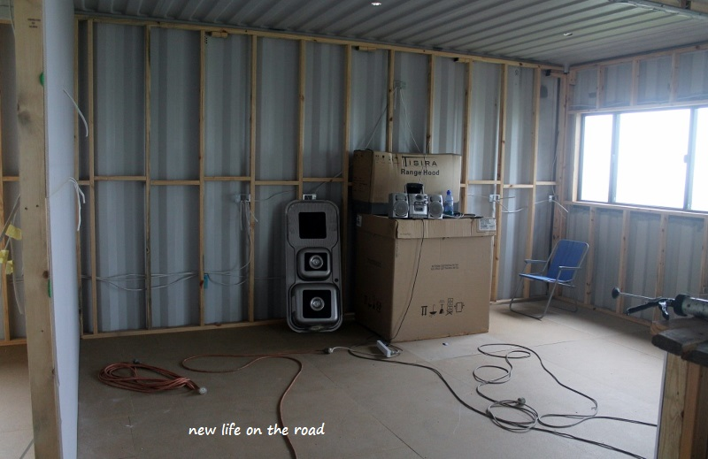 The kitchen in the Shipping Container Home