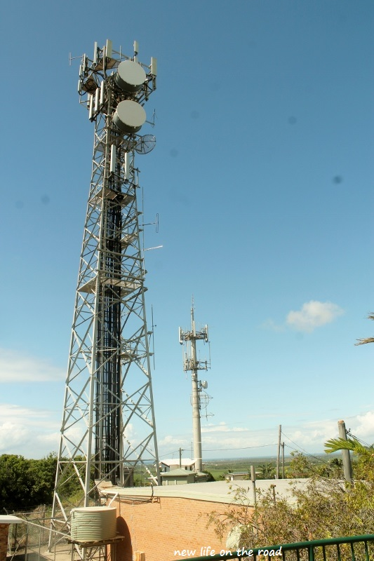 Communication Tower at the Top of the Boardwalk at the earth cache
