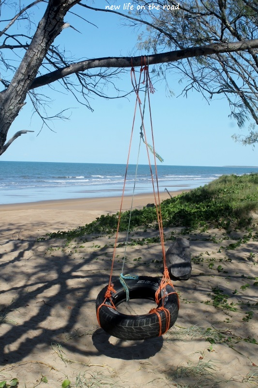 Tyre Swing Over Looking The Beach