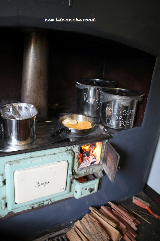 Cooking on the old stove