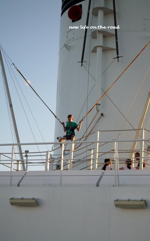 Trampoline on the P and O Pacific Jewel