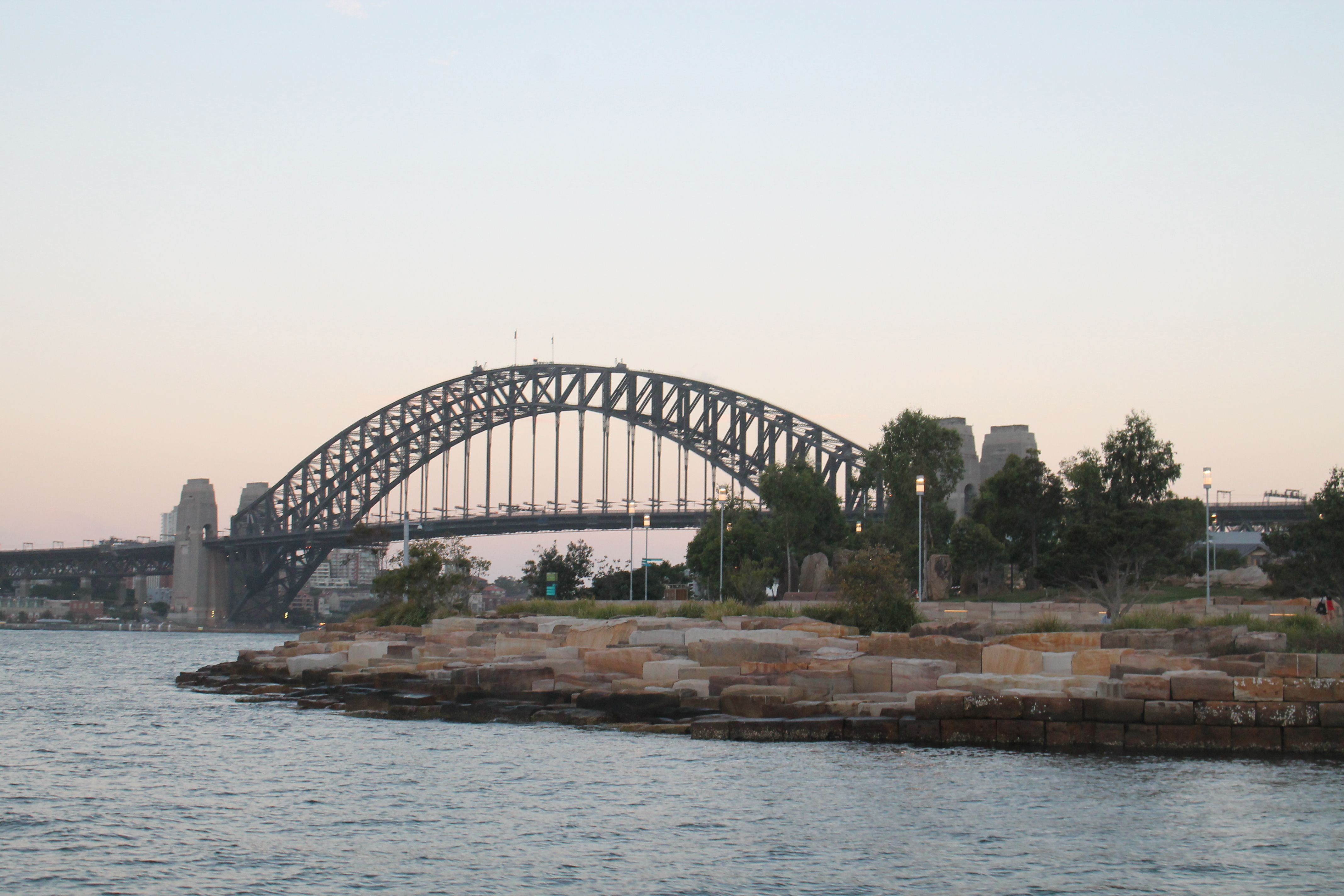 Watching the Sunset over Sydney Harbour Bridage